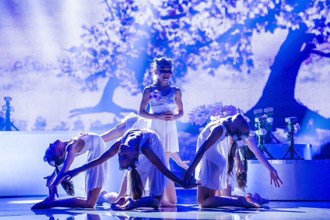 Im akrobatischen Tanz, wollen die Showgirls den Sieg nach Hause fahren. Doch reicht ihr Können, um die Jury zu überzeugen? - Bildquelle: Frank Dicks SAT.1