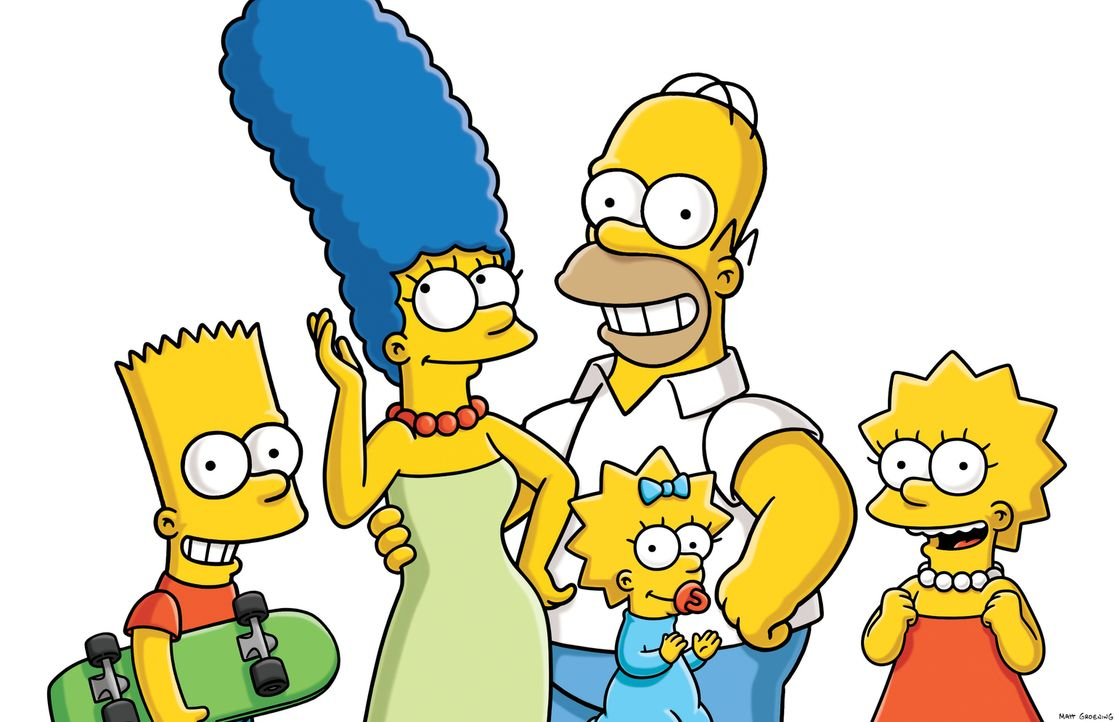 (25. Staffel) - Eine fast normale Familie: Lisa (r.), Marge (2.v.l.), Maggie (M.), Homer (2.v.r.) und Bart (l.) ... - Bildquelle: 2014 Twentieth Century Fox Film Corporation. All rights reserved.