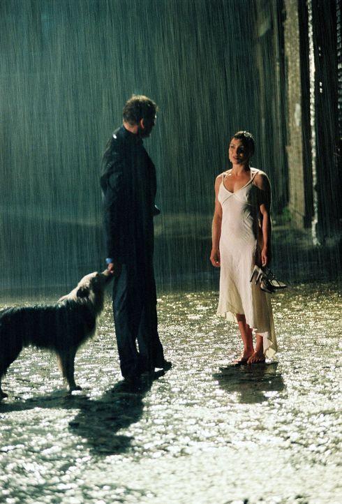 Ein Missverständnis jagt das nächste: Jan (Eckhard Preuß, l.) lässt Anna (Claudia Schmutzler, r.) im Regen stehen ... - Bildquelle: Susan Skelton Sat.1