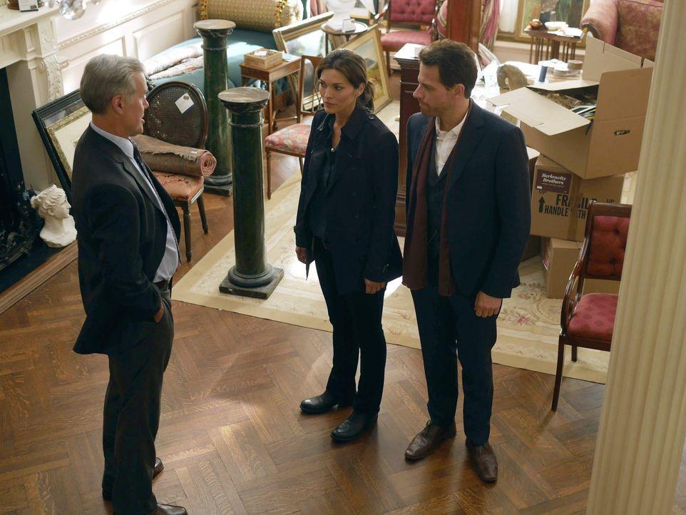 Dr. Henry Morgan (Ioan Gruffudd, r.) und Detective Jo Martinez (Alana de la Garza, M.) haben eine wohlhabende New Yorker Patriarchin auf einer Gala... - Bildquelle: Warner Brothers