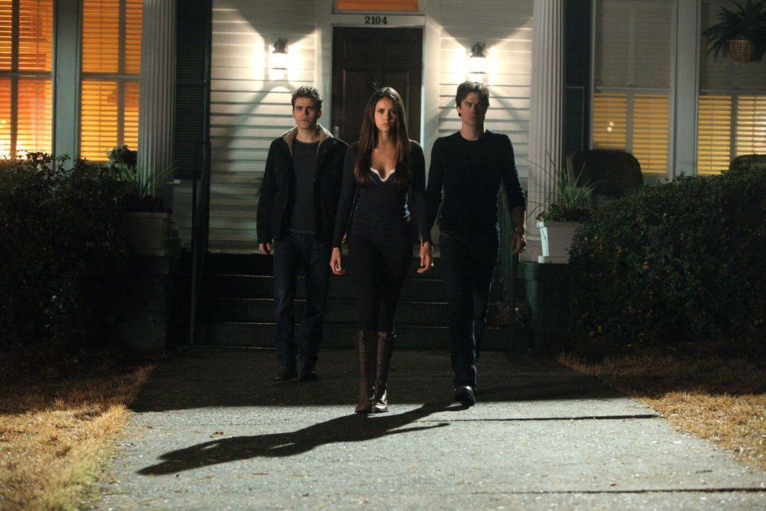 Stefan, Damon und Elena - Bildquelle: Warner Bros. Entertainment Inc.