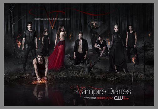 Vampire Diaries - (5. Staffel) - Zusammen kämpfen (v.l.n.r.) Damon (Ian Somer...