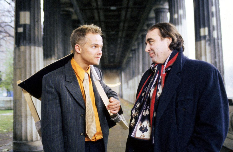 Ben (Matthias Koeberlin, l.) sucht Rat bei seinem alten Mentor, Professor Freund (Oliver Nägele, r.) an der Uni. Der macht ihm gnadenlos klar, dass... - Bildquelle: Jeanne Degraa Sat.1/Degraa