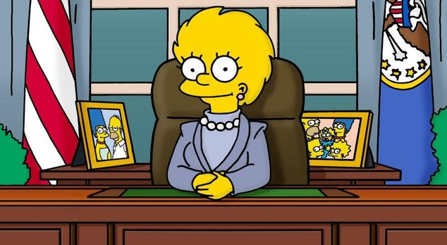 Die Simpsons - In einer Zukunftsvision wird Lisa (Bild) Präsidentin der USA....