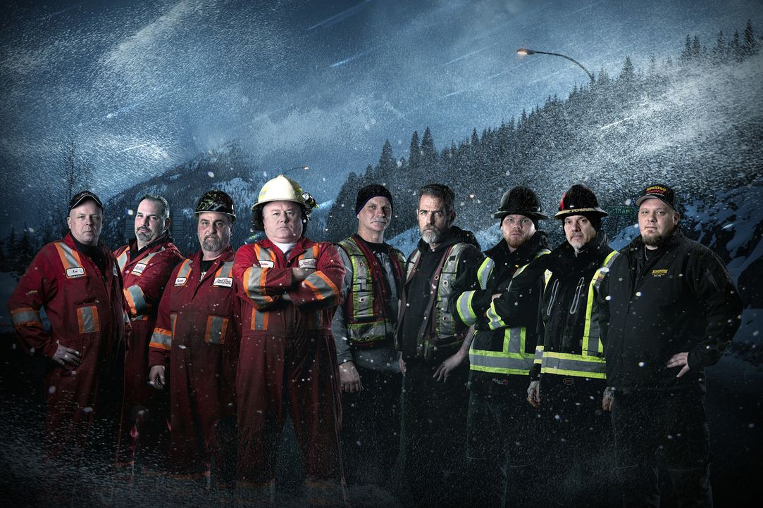 (5. Staffel) - Highway Heroes Canada um Jamie Davis (4.v.l.) - Bildquelle: Great Pacific Media Company