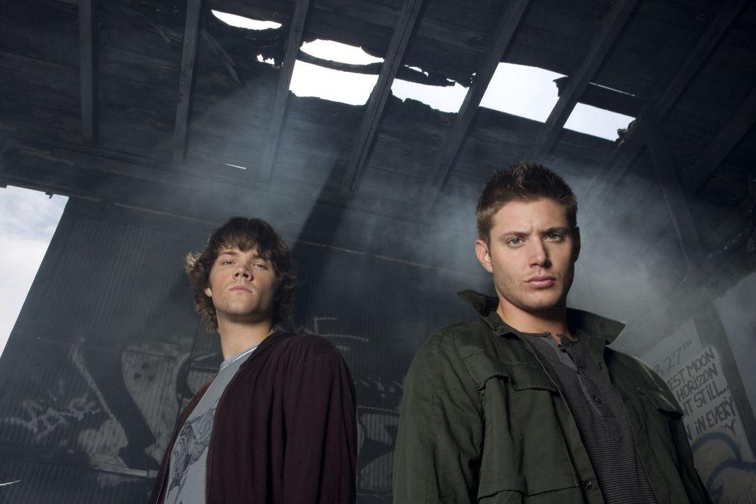 (2. Staffel) - Sie begeben sich auf eine gefährliche Jagd nach dem Übernatürlichen: Sam (Jared Padalecki, r.) und Dean Winchester (Jensen Ackles, l.... - Bildquelle: Warner Bros. Television