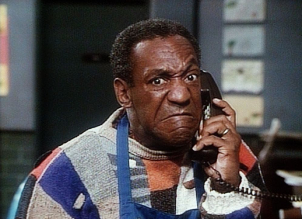 Cliff (Bill Cosby) kann bei einer Jazz-Versteigerung nicht persönlich erscheinen und weist daher einen Makler telefonisch an, was für ein Gesicht... - Bildquelle: Viacom