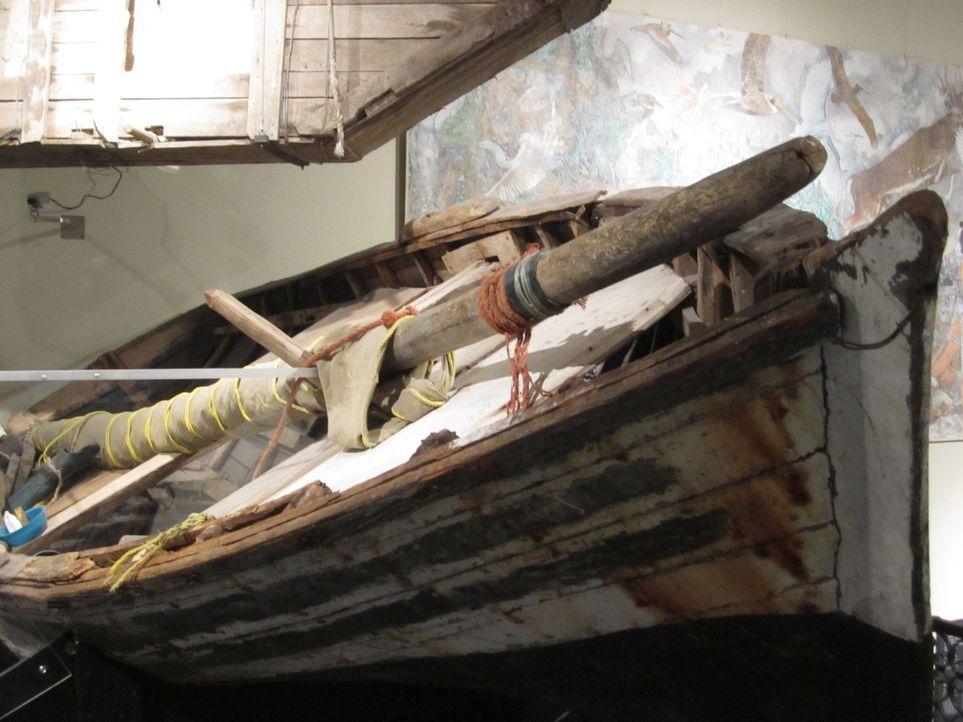 Unter den Waffen des Krieges im National Marine UDT SEAL Museum in Fort Pierce in Florida befindet sich ein altes Rettungsboot. Welche Rolle spielte... - Bildquelle: 2012,The Travel Channel, L.L.C. All Rights Reserved