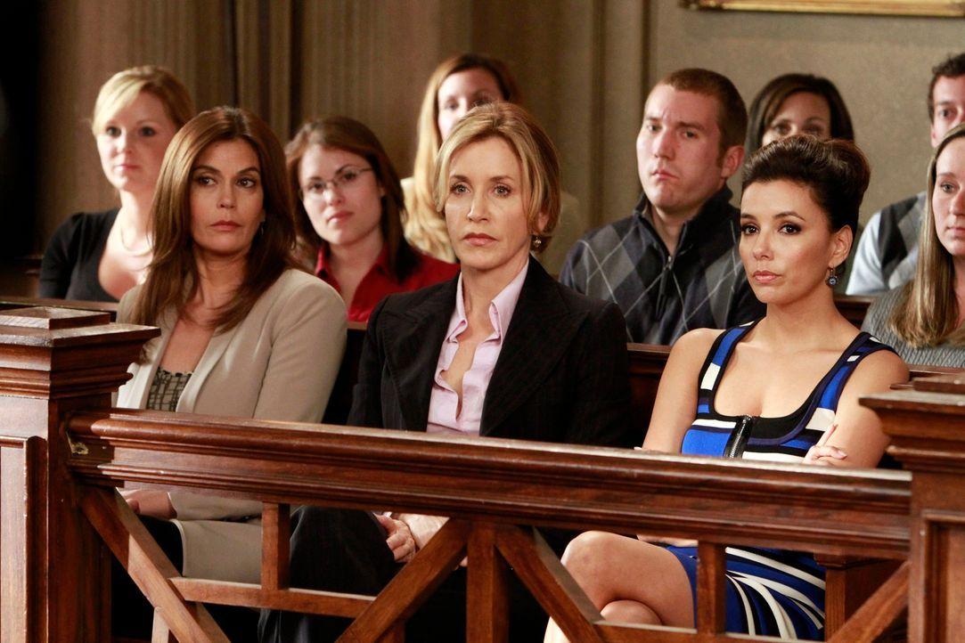Stehen Bree in ihrer schweren Zeit bei: Susan (Teri Hatcher, l.), Lynette (Felicity Huffman, M.) und Gabrielle (Eva Longoria, r.) ... - Bildquelle: ABC Studios