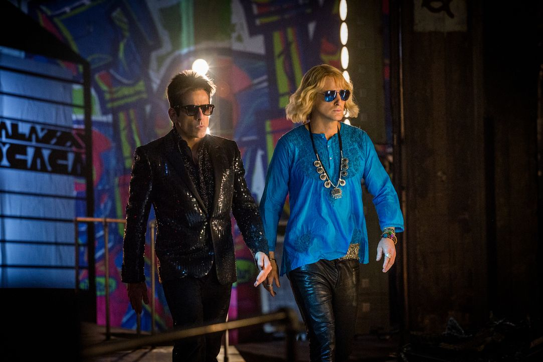 Müssen in der Welt der Stars und der Mode ermitteln, nachdem einige Popstars ermordet wurden: Derek (Ben Stiller, l.) und Hansel (Owen Wilson, r.) .... - Bildquelle: 2016 Paramount Pictures