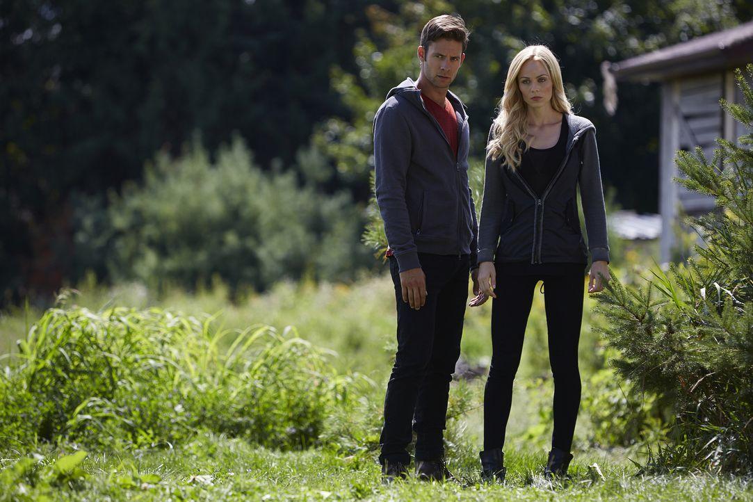 Nick (Steve Lund, l.) versucht, Elena (Laura Vandervoort, r.) davon abzuhalten, aus Rache einen schweren Fehler zu begehen ... - Bildquelle: 2015 She-Wolf Season 2 Productions Inc.