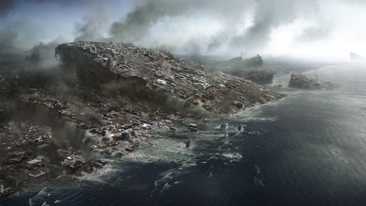 2012: Die Kontinentalplatten spielen verrückt. Erdbeben, Vulkanausbrüche und Flutwellen radieren ganze Städte, Landschaften, Kontinente aus. - Bildquelle: 2009 Columbia Pictures Industries, Inc. All Rights Reserved.