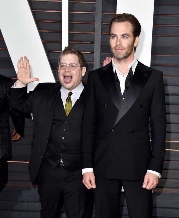 Oscars-Vanity-Fair-Party-Patton-Oswalt-Chris-Pine-150222-getty-AFP - Bildquelle: getty-AFP