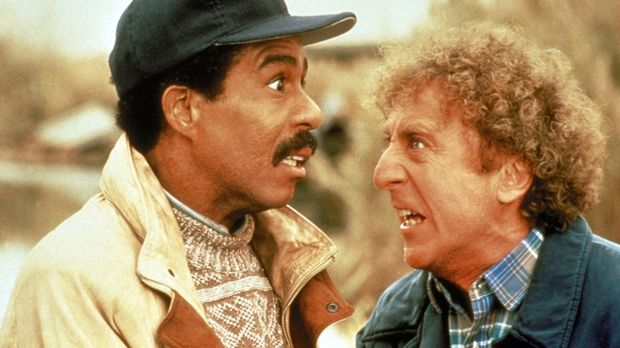 Wally (Richard Pryor, l.) ist blind und sein Freund Dave (Gene Wilder, r.) is...