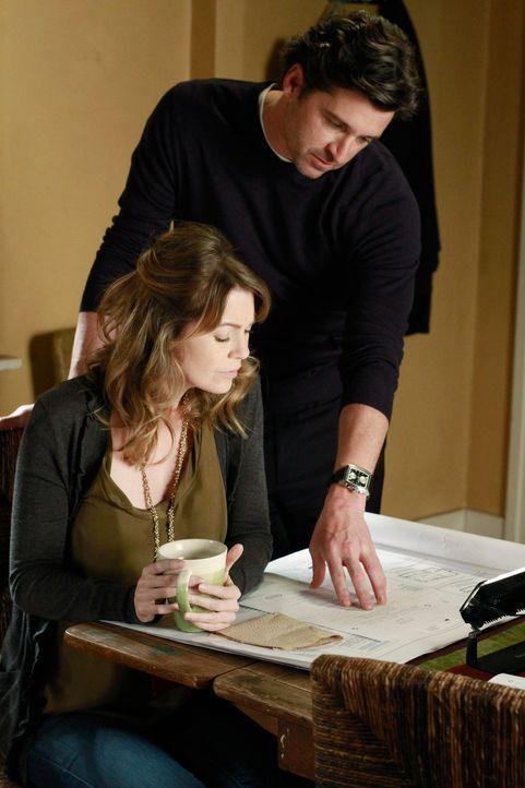 Meredith (Ellen Pompeo, l.) wird immer noch mit Fruchtbarkeitsmedikamenten behandelt, damit Derek (Patrick Dempsey, r.) und sie ein Baby kriegen kön... - Bildquelle: ABC Studios