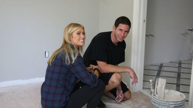 Christina (l.) und Tarek (r.) legen sich mächtig ins Zeug, damit sie das Haus...