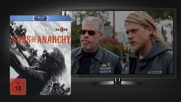 Sons of Anarchy Season3 Blu-Ray und Szenenbild