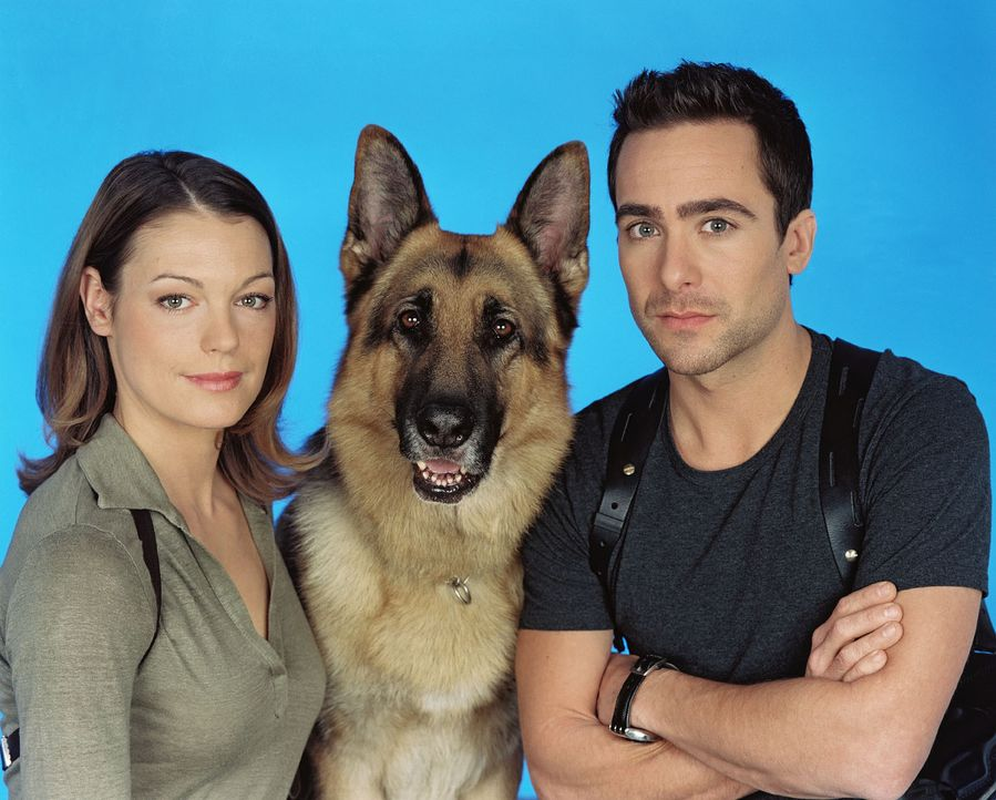 (8. Staffel) - Elke Winkens, Rex und Alexander Pschill - Bildquelle: Sat.1