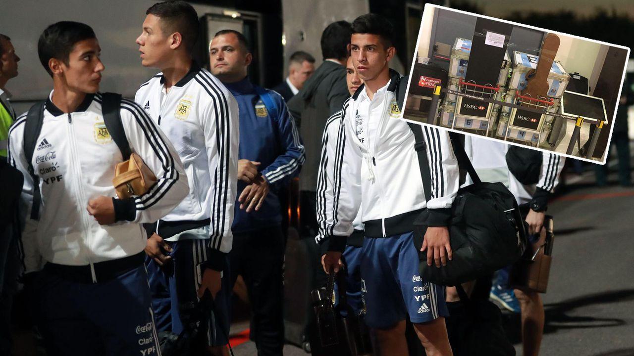Argentiniens Nationalteam beim Schmuggeln erwischt - Bildquelle: imago/twitter@AFIPcomunica