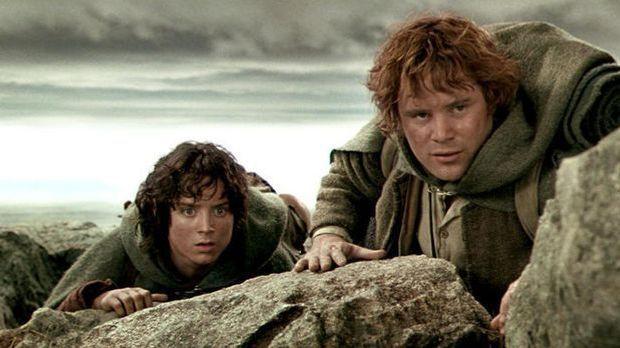 Herr der Ringe Spielfilm Trilogie: Blu-ray-Cover und Szenenbild