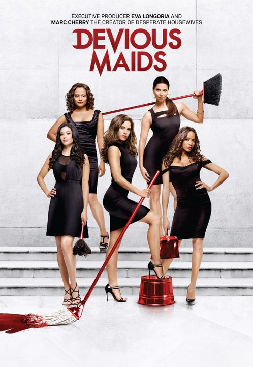 (1. Staffel) - Devious Maids: Marisol (Ana Ortiz, M.), Rosie (Dania Ramirez, r.), Carmen (Roselyn Sanchez, 2.v.r.), Zoila (Judy Reyes, 2.v.l.) und V... - Bildquelle: ABC Studios