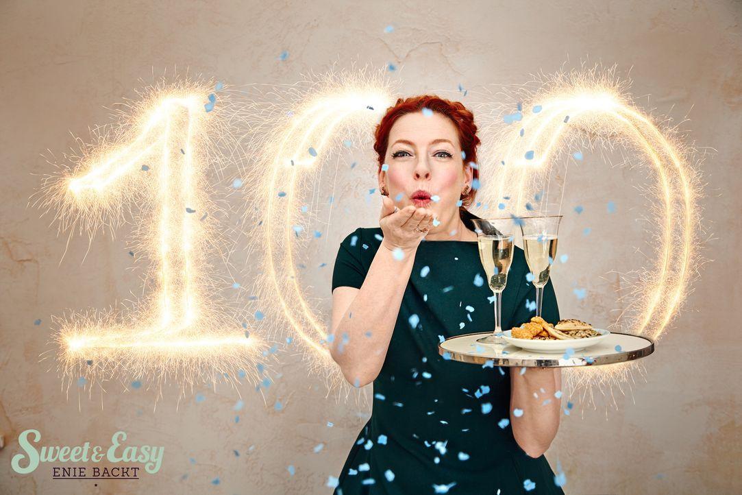 Heute wird es hoch, bunt und protzig! Enie (Bild) zaubert einen Dipping Cake, einen Freak-Shake und einem herzhaften Blechkuchen. Zu Besuch ist heut... - Bildquelle: Marc Rehbeck sixx