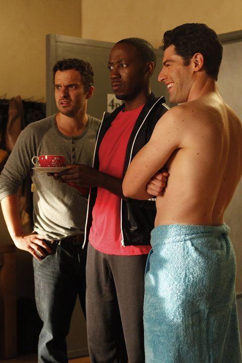 Überzeugen Jess, dass es endlich an der Zeit ist, ihre Sachen aus der Wohnung ihres Exfreundes Spencer zu holen: Schmidt (Max Greenfield, r.), Nick... - Bildquelle: 20th Century Fox