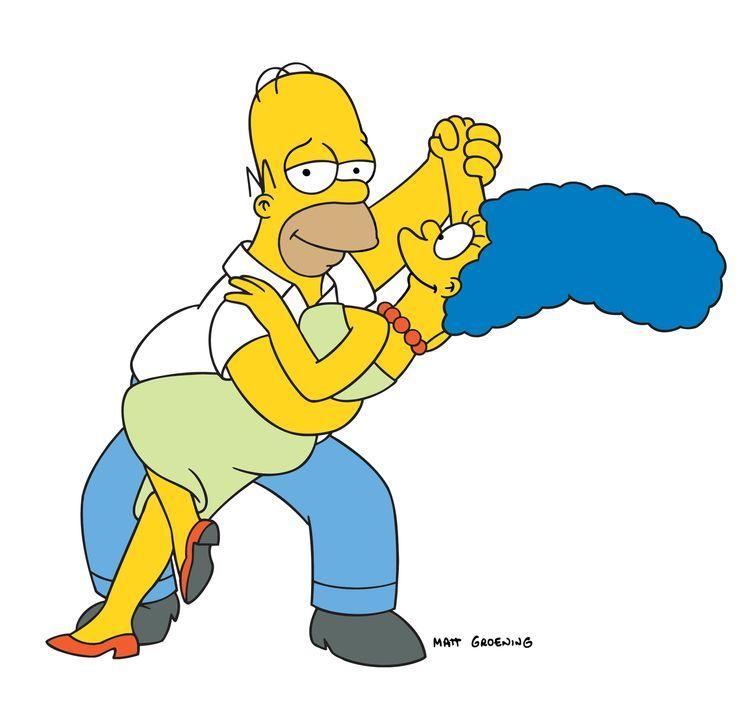 (19. Staffel) - Ein Tänzchen in Ehren, kann niemand verwehren: Homer (l.) und Marge Simpson (r.) ... - Bildquelle: und TM Twentieth Century Fox Film Corporation - Alle Rechte vorbehalten