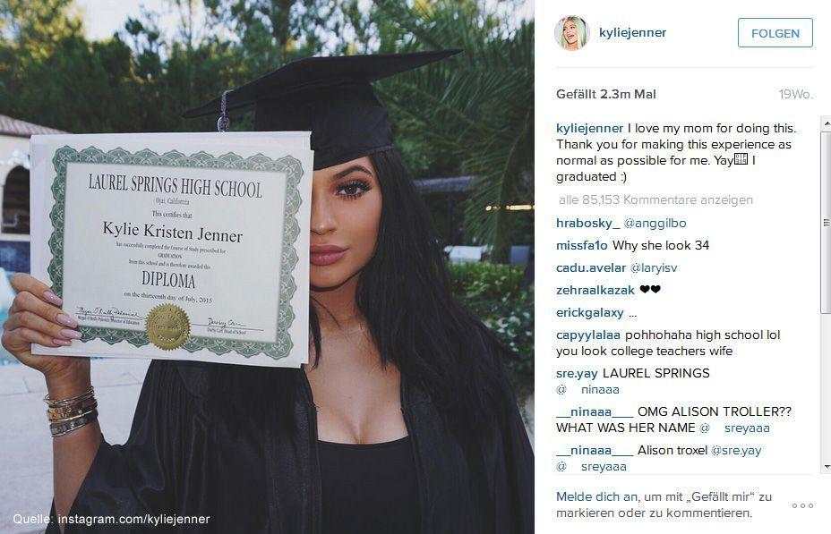 Beliebteste-Instagram-Bilder-2015-kyliejenner-1 - Bildquelle: instagram.com/kyliejenner