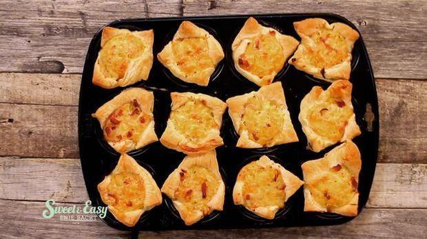 Zwiebelkuchen Muffins fertig