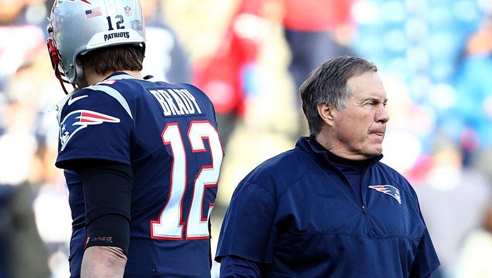 Nur eine Zweckgemeinschaft? Zwischen Tom Brady (l.) und Bill Belichick soll ... - Bildquelle: Getty Images