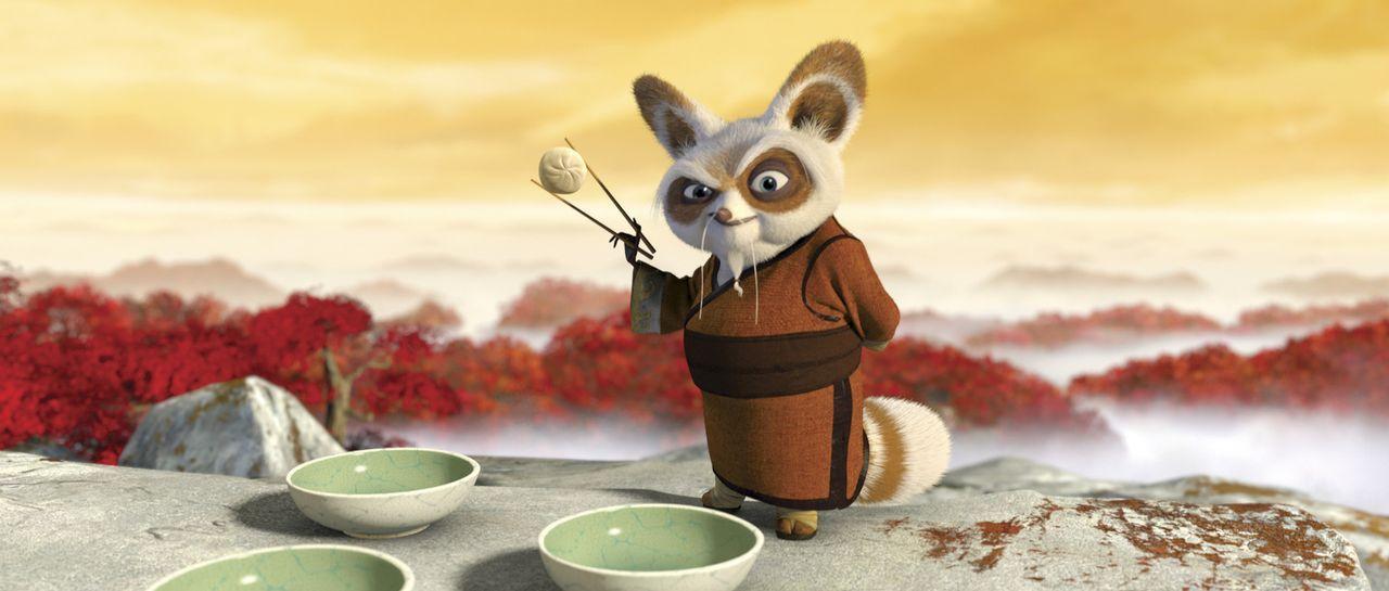 """Kung Fu Meister Shifu, der bereits die legendären """"Furiosen Fünf"""" trainiert hat, bekommt nun den Spezialauftrag. Er soll den tollpatschigen und di... - Bildquelle: Paramount Pictures"""