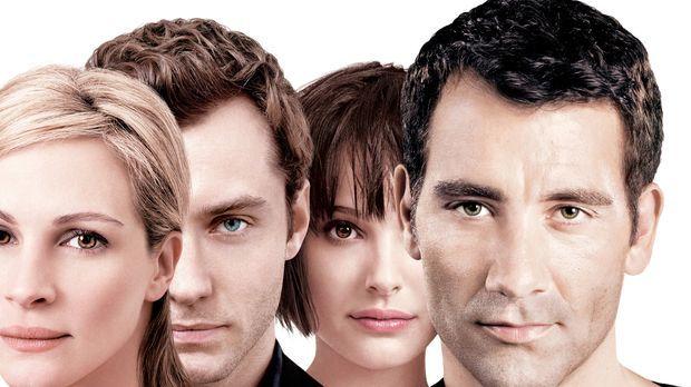 Als sich die Wege von Dan (Jude Law, 2.v.l.), Alice (Natalie Portman, 2.v.r.)...