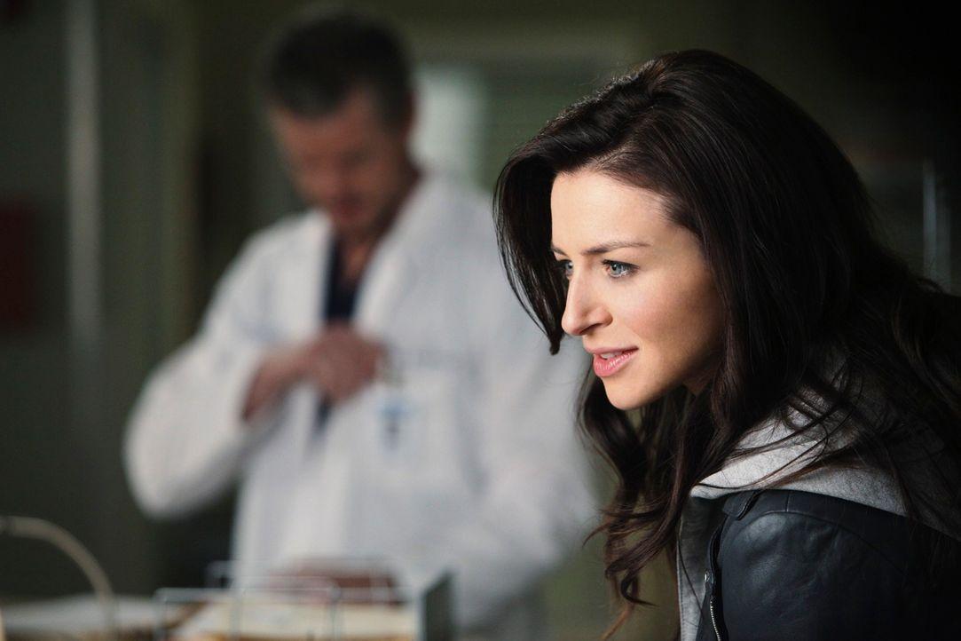 Derek bekommt einen unerwarteten und unwillkommenen Besuch von seiner Schwester Amelia (Caterina Scorsone) ... - Bildquelle: ABC Studios