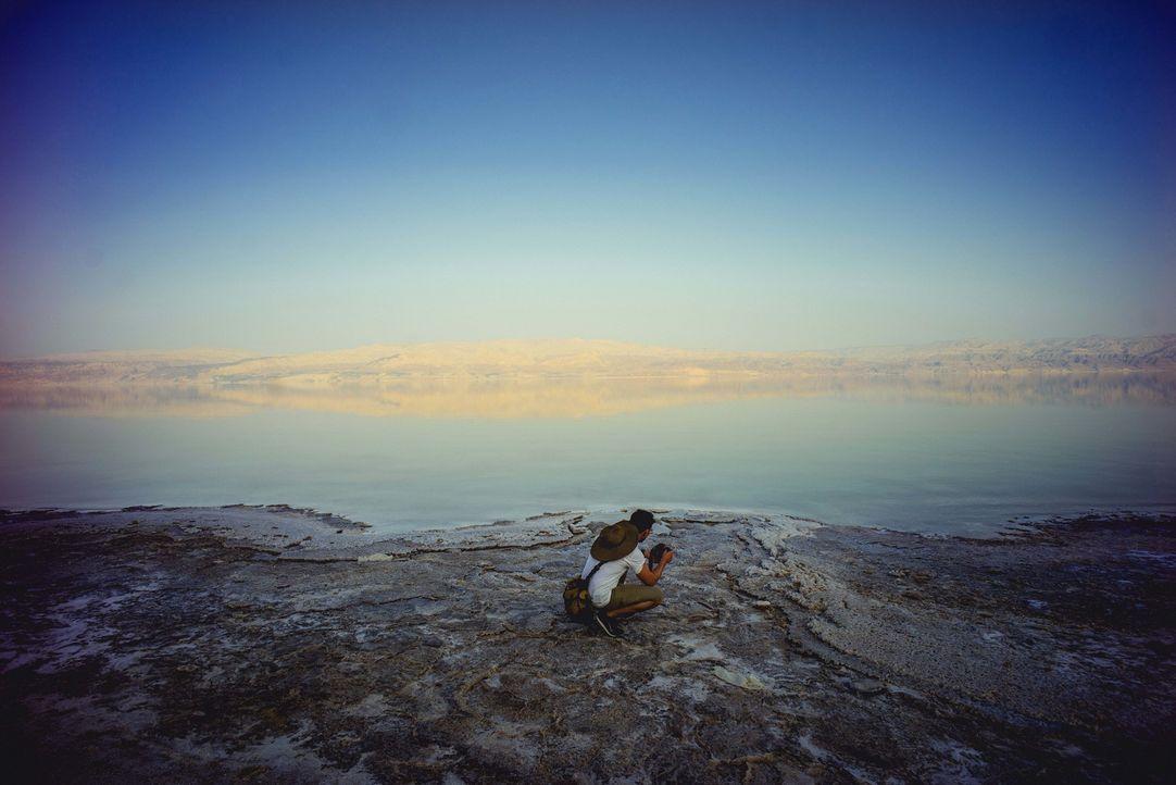 Bill Weir ist in Israel und Jordanien unterwegs. Sein Ziel: das Tote Meer. Denn dieses Naturwunder und einzigartige Ökosystem ist in seiner Existenz... - Bildquelle: Philip Bloom 2015 Cable News Network. A Time Warner Company. All Rights Reserved.