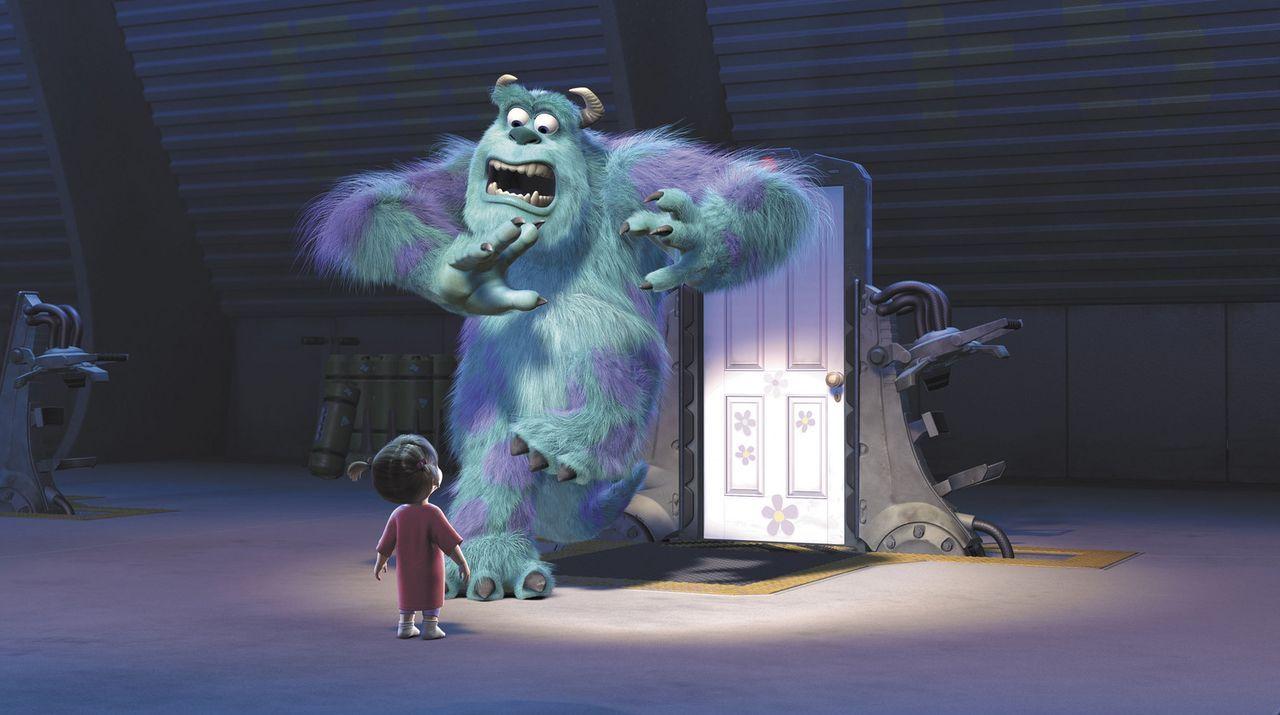 Ein Menschenkind in der Monsterwelt, das gab es noch nie! Noch dazu sind Kinder äußerst gefährlich und nur eine einzige Berührung könnte Sulley... - Bildquelle: Buena Vista Pictures