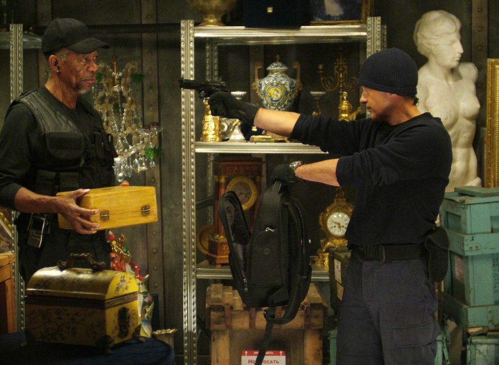 Hat Keith Ripley (Morgan Freeman, l.) mit Gabriel Martin (Antonio Banderas, r.) für seinen Coup den falschen gewählt? - Bildquelle: Nu Image