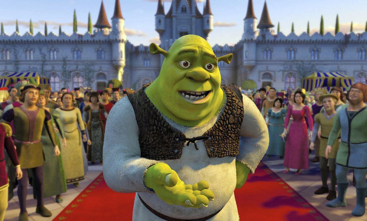 Nach seinem Kampf gegen einen Drachen und den bösen Lord Farquaad muss sich Shrek nun der größten Herausforderung von allen stellen: der Familie... - Bildquelle: DreamWorks SKG
