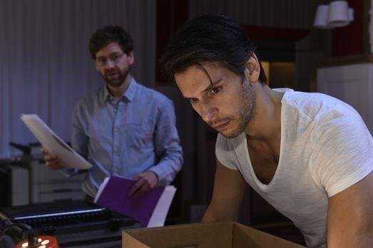 Mila - Rudi (Andreas Nickl, l.) hat die undankbare Aufgabe, Nick (Florian Ode...