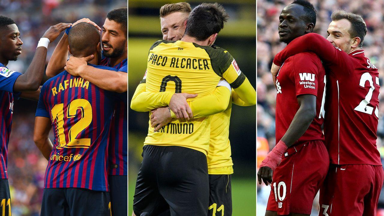 Die besten Offensiven aus Europas Top-Ten-Ligen - Bildquelle: Getty