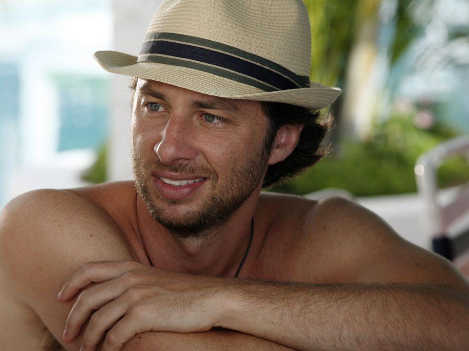 Genießt die Zeit auf den Bahamas: J.D. (Zach Braff) ... - Bildquelle: Touchstone Television