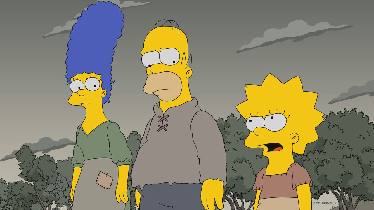 (v.l.n.r.) Marge; Homer; Lisa - Bildquelle: 2017-2018 Fox and its related entities.  All rights reserved.
