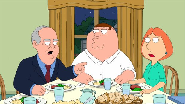 Family Guy - Der erzkonservative Republikaner Rush Limbaugh (l.) ist zu Gast...