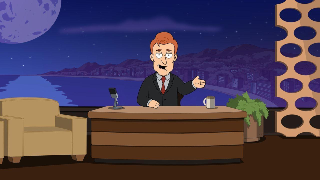 Peter und Quagmire werden zu Conan O'Briens (Bild) Late-Night-Talk eingeladen ... - Bildquelle: 2014 Twentieth Century Fox Film Corporation. All rights reserved.
