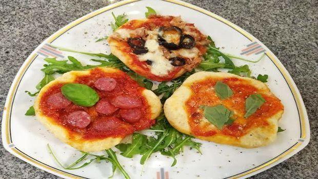 Mikrowellen-Pizza