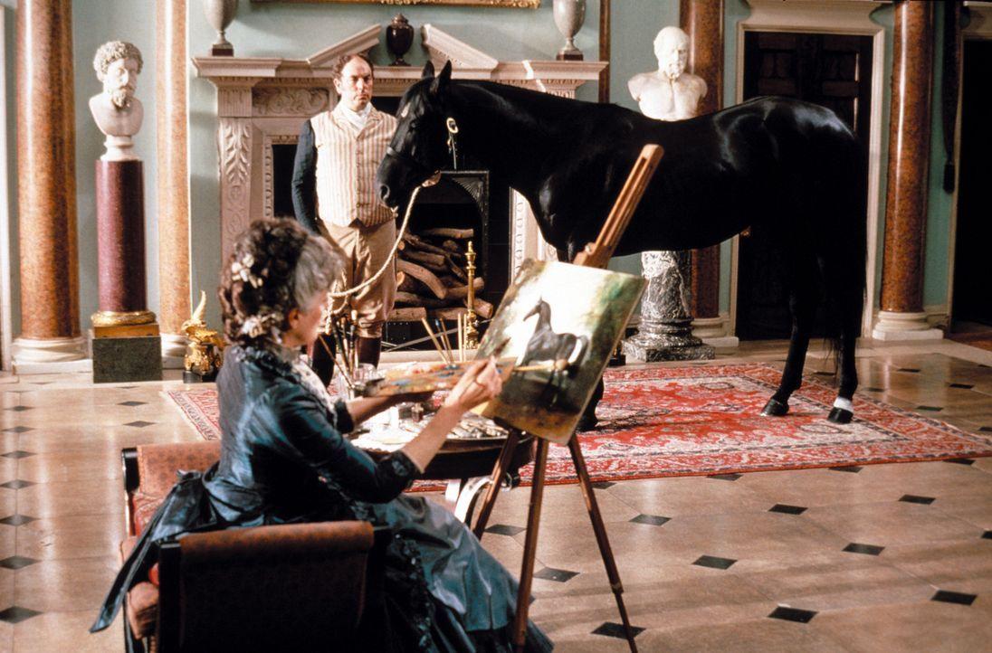 Weil es die Mode verlangt, werden bei Lord und Lady Wexmire (Eleanor Bron) den Pferden die Köpfe hochgebunden. Die Schmerzen in den Vorderbeinen, N... - Bildquelle: Warner Bros.