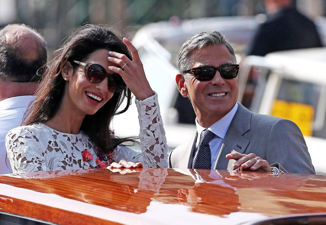 Amal- Alamuddin-George- Clooney-14-09-28-dpa - Bildquelle: dpa