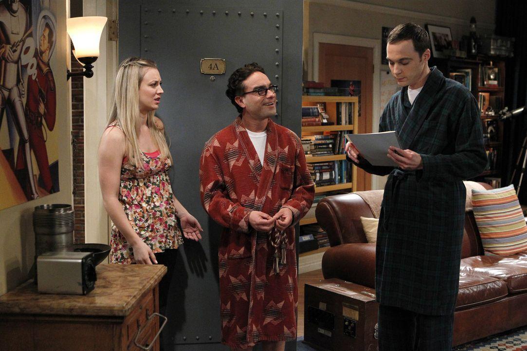 Gute Freunde: Sheldon (Jim Parsons, r.), Leonard (Johnny Galecki, M.) und Penny (Kaley Cuoco, l.) ... - Bildquelle: Warner Bros. Television