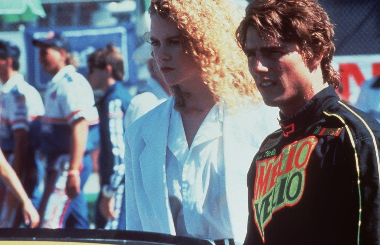 Nach einem schweren Unfall lernt Rennfahrer Cole Trickle (Tom Cruise, r.) die schöne Ärztin Claire Lewicki (Nicole Kidman, l.) kennen, in die er sic... - Bildquelle: Paramount Pictures