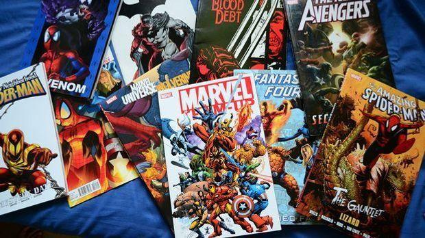 Superhelden von Marvel: Comic-Hefte zu verschiedenen Helden